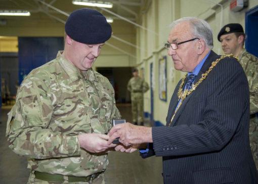 Reserve Soldiers, Volunteer Reserves Medal, VRSM, Royal Logistic Corps, RLC, 203 Squadron, 158 Regiment RLC