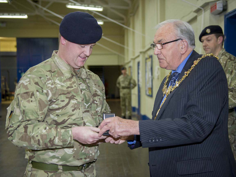 Reserve Soldiers, Volunteer Reserves Medal, VRSM, Royal Logistic Corps, RLC, 203 Squadron, 158 Regiment RLC