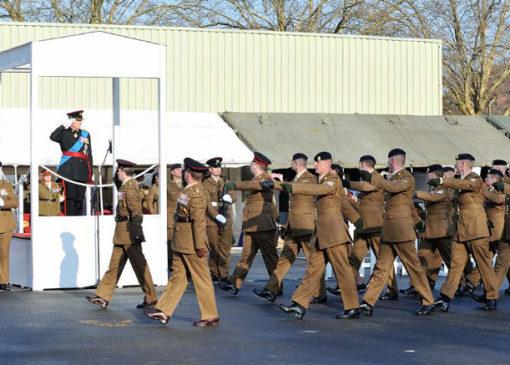 24 Regiment disbandment parade