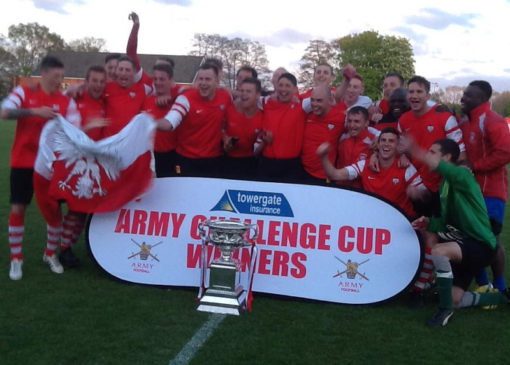 7 Regiment Football team win Challenge Cup