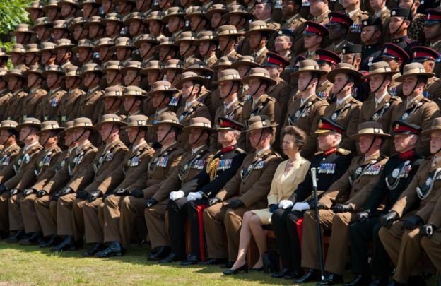 Princess Royal Visit to 10QOGLR