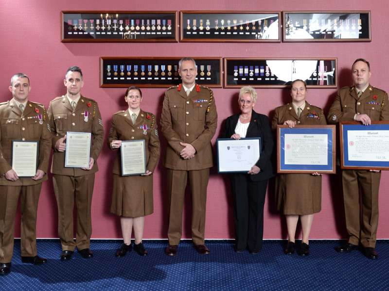 9 Regiment RLC Long Service & Good Conduct Awards Presentations
