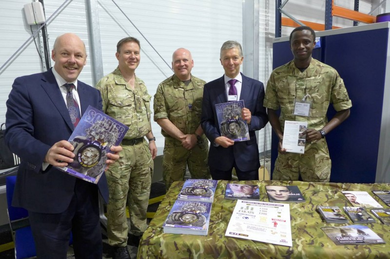 151 RLC with Carl Lomas and TFL Boss Mike Brown at West Thames College Skill Centre