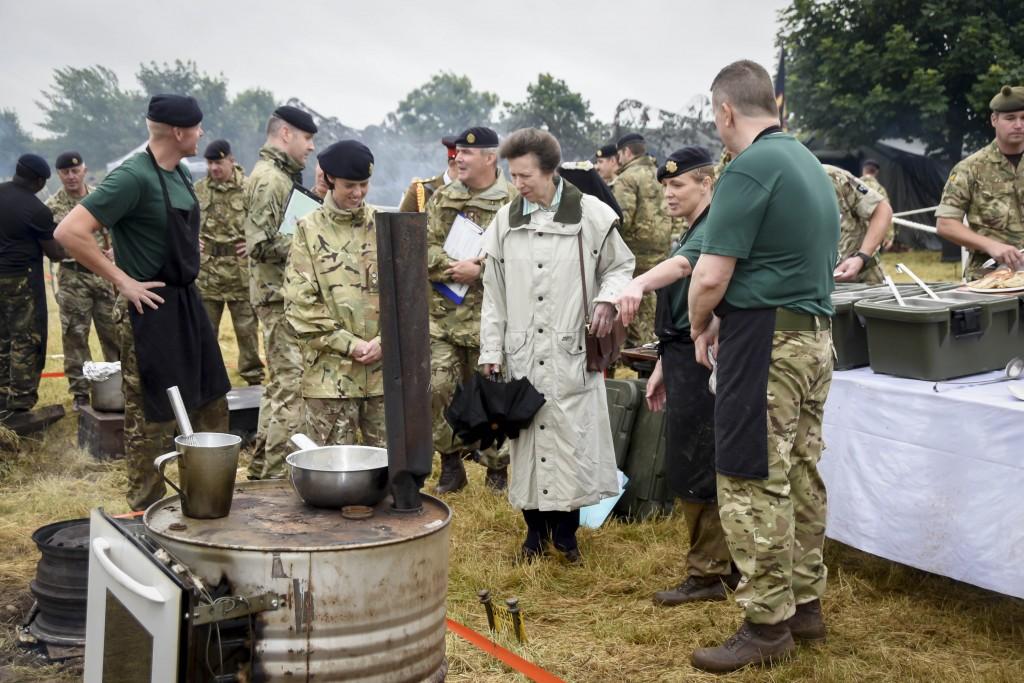Princess Royal Sees Military Cuisine Challenge