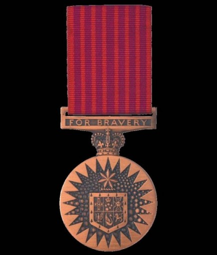 Colonel McMahon (late RLC) awarded the Australian Bravery Medal
