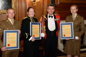 The RLC CARMEN Award winners with Col C J Francis, Colonel RLC