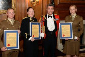 The RLC CARMEN Award winners with Col C J Francis, Colonel RLC