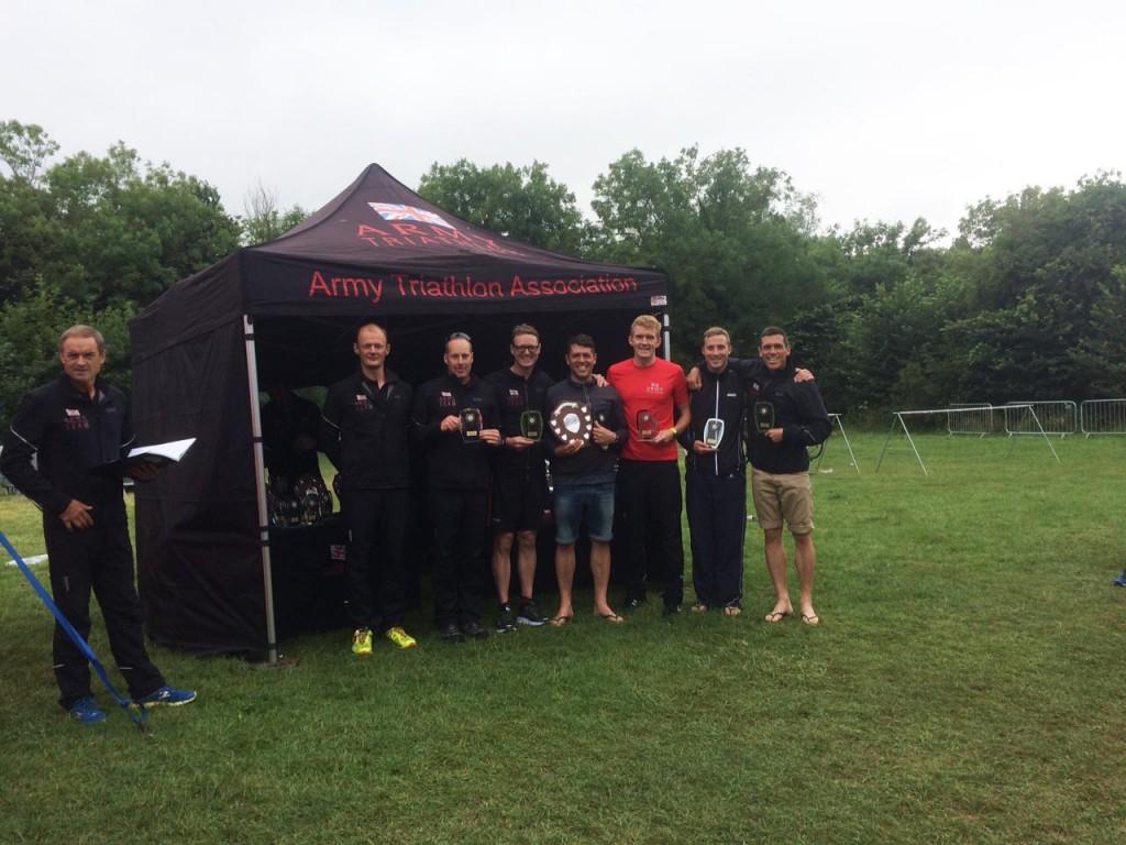 RLC Triathletes Army Corps Team Champions