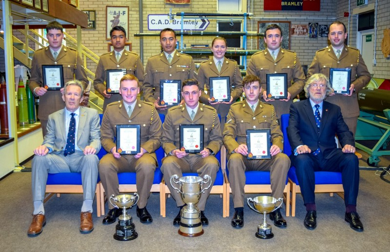 Graduation of Ammunition Technicians at Kineton, Course 1702 AT2, with Lt Col (Retd) Fred Moughton and Rod (Fluff) Roberts from the Didcot and Kineton Branch of the RAOC Association