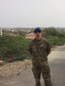 Lt Col Gary Pugh with Hargeisa in the background