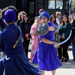 The Gatka demonstration is performed during the Saragarhi Day public event