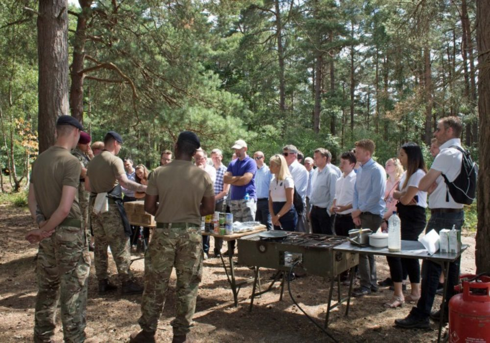 Visitors had the opportunity to learn about the equipment that is used to cater for large numbers of troops in the field