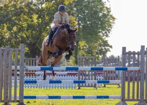 LCpl Holly Hall, has qualified for the British Showjumping National Amateur Finals