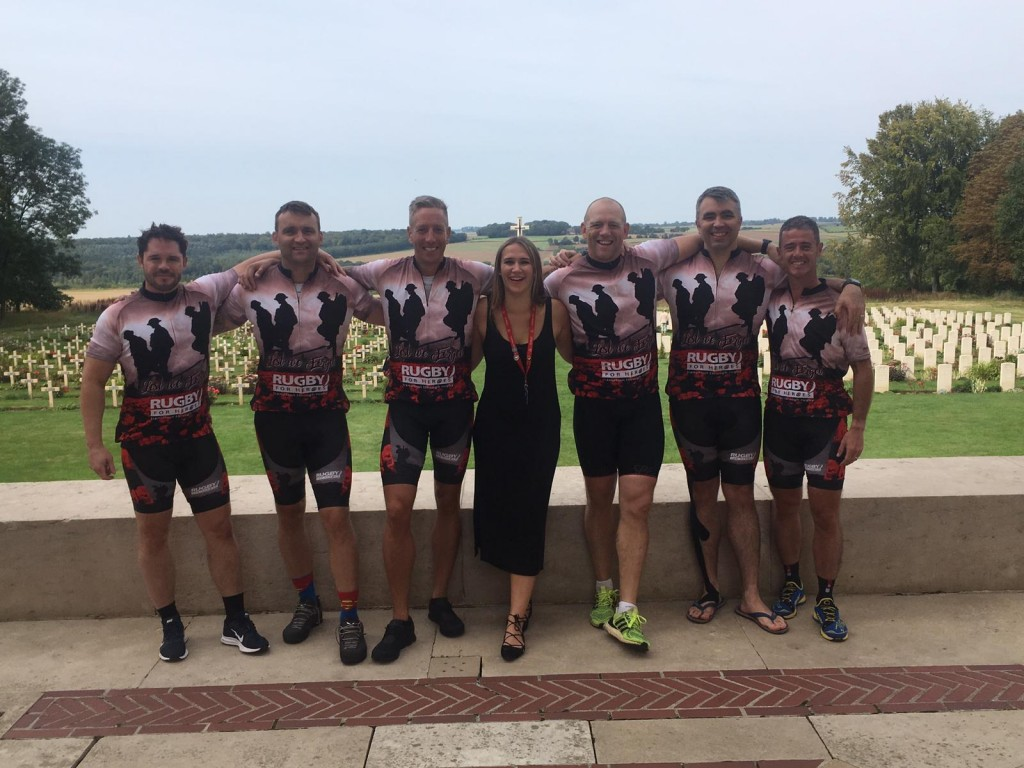 Rugby for Heroes charity cycle ride