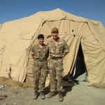 Sarah pictured with Brigadier Zac Stenning Commander 1 Armoured Infantry Brigade