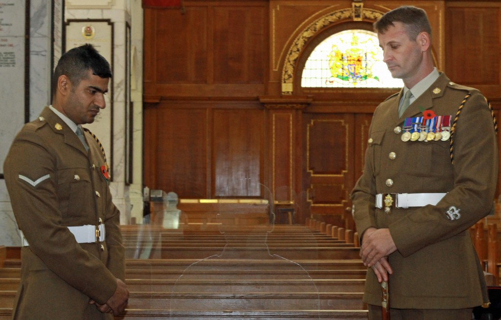 Tribute paid to WW1 fallen at Sandhurst