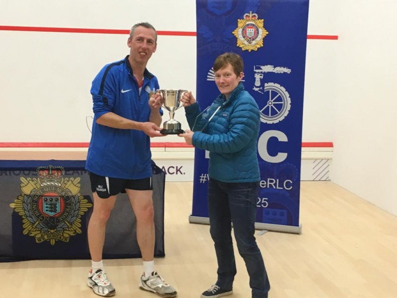 Sgt Ammy Whitehead receiving the ladies champion trophy
