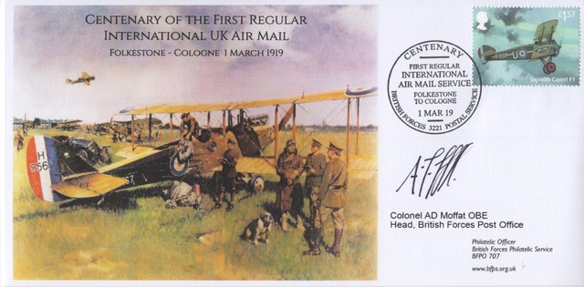 British Air Mail Service centenary covers